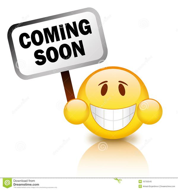Smiley Face with Coming Soon Sign