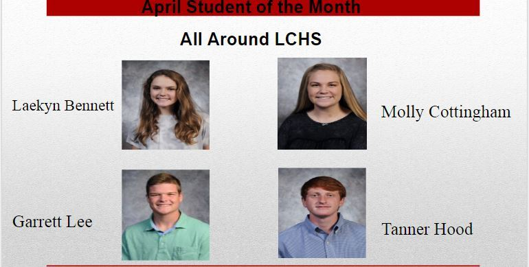 Student of the Month-April