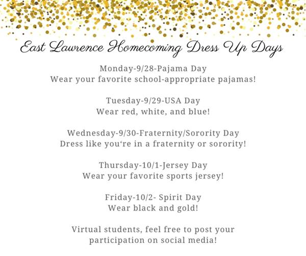 Home Coming Dress up Days